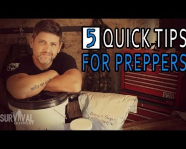 Five Tips For Prepping Emergency Survival Food & Water #prepper #emergencyfood