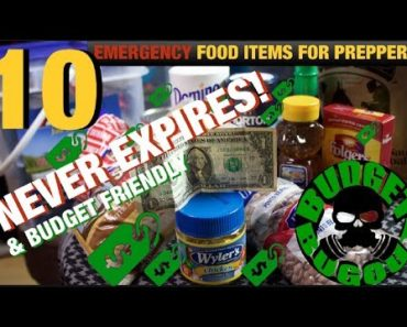 ? 10 BUDGET-FRIENDLY Food Items For Preppers That Will NEVER Expire   Budget Bugout