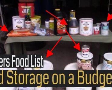 Prepper Food Stockpile Checklist [Long-Term Food Storage Ideas!]