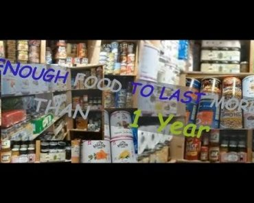 PREPPER PANTRY STOCKED FROM FLOOR TO CEILING!  Enough Food For More Than 1 Year.