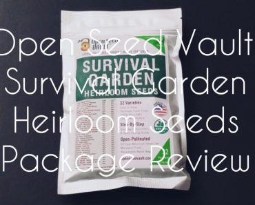 Open Seed Vault: Survival Garden Heirloom Seeds Package Review
