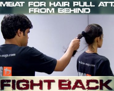 Self Defense Tips For Women || Fight A Hair Pull Attack From Behind || Elroy Vaz