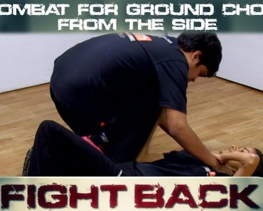 Self Defense Tips For Women || Fight A Ground Choke From The Side || Elroy Vaz
