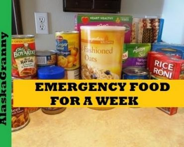 Emergency Food Storage Meal Plan For A Week – Prepping Food Stockpile Cheap and Easy Plan