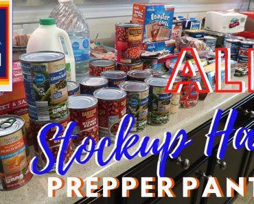 ALDI HAUL – PREPPER PANTRY STOCKUP HAUL | Chatty Update