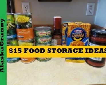 Start Prepping 15 Dollar Food Storage Ideas- Prepping Food Stockpile Cheap and Easy Plan