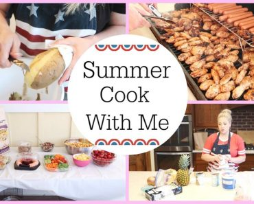 PREPPING FOOD FOR SUMMER BBQ / COOK WITH ME / MEAL PLAN
