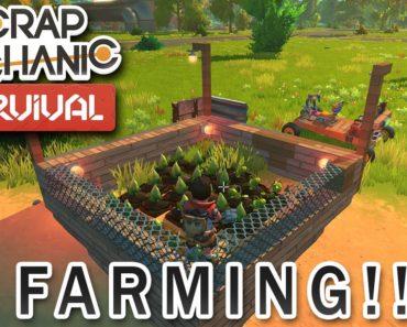 Scrap Mechanic Survival Mode – Farming!!!