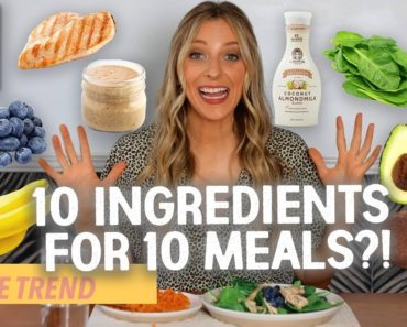 10×10 Food Challenge *MEAL PREPPING ON A BUDGET*  | Try The Trend