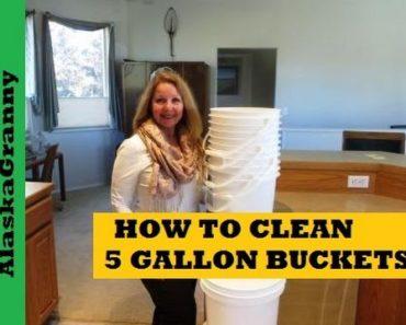Easiest Way To Clean 5 Gallon Buckets – Prepping Food Storage Tips Tricks Hacks