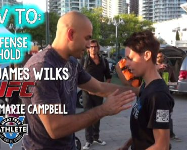 How To: Self Defense Choke Hold with Vegan MMA Fighter, James Wilks from Game Changers