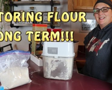 How We Store FLOUR For Our Prepper Pantry!