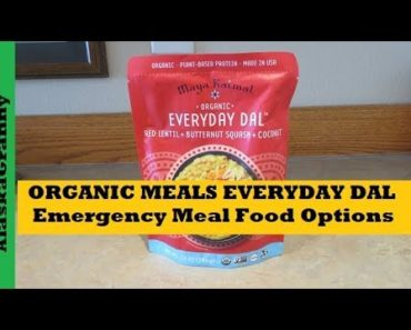 Organic Everyday Dal Organic Meals Emergency Meal Food Options Prepping Preppers Bug Out Bag
