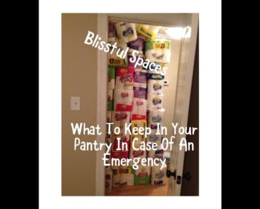PREPAREDNESS   PANTRY PREPPING FOR EMERGENCIES//Blissful Spaces