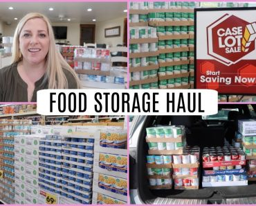 FOOD STORAGE HAUL -Q&A -CASE LOT SALE TIPS