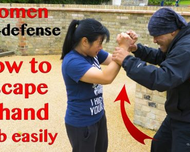 Women self defense – How to escape a 2 hand grab easily | Wing Chun