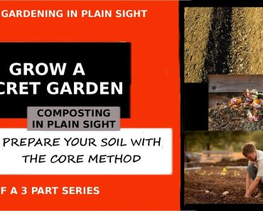 PREPPER GARDENING IN PLAIN SIGHT PART 3 Use the Core Method to compost in place with Sr2Sr-Prepper