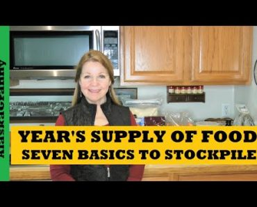 Year's Supply Seven Basic Foods to Stockpile Prepper Pantry Year of Food