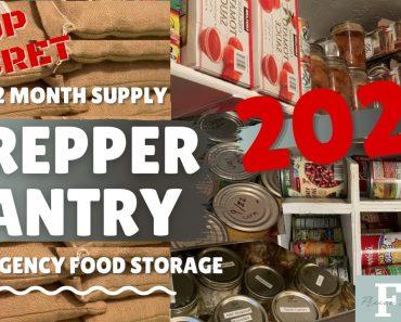 Secret Prepper Pantry Tour 2021 – Emergency Food Storage 6-12 mo. prep   FDF (Freeze Dried Friday's)
