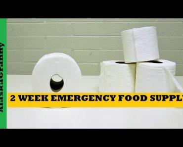 2 Week Emergency Food Supply Stockpile Prepper Pantry Foods to Buy Stockpile Now