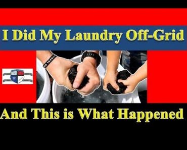 EASY Off Grid Laundry (With Funny Praxis Opening Skit) [Prepper Laundry]