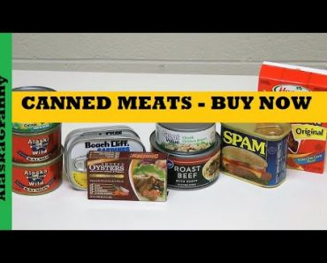 Canned Meat Food Storage – Prepper Pantry Stock Up Now Top Canned Food