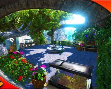 EPIC HOUSE GARDEN! ECO Terrarium & GARDEN SPOTLIGHT! Ark survival evolved Castle build
