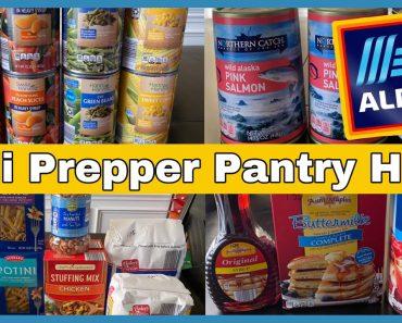 Aldi Prepper Haul | Beginning Prepper Pantry Ideas | Emergency Food Haul