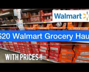 $20 Beginner Prepper Pantry   3 Month Food Survival Food   Walmart @Carolina Homestead-Tommy BitesTV