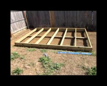 Off Grid Prepper Storage Shed/Workshop Construction Part 1 – Foundation