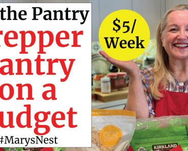 How to Stock Your Prepper Pantry for $5 a Week
