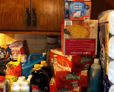 Prepper Pantry Emergency Food Sam's Club Stock Up + Metal Shelf #1