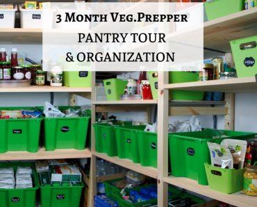 3 Month Veg. Emergency | Organic Prepper Pantry | Tour & Organization | 2020