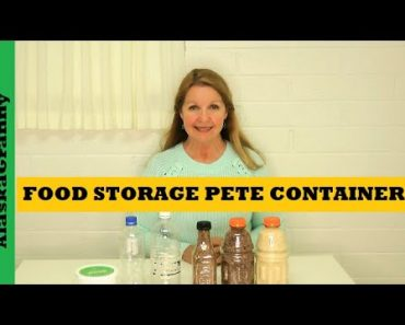 Prepper Pantry Food Storage Food in Recycled Plastic Containers PETE Bottles